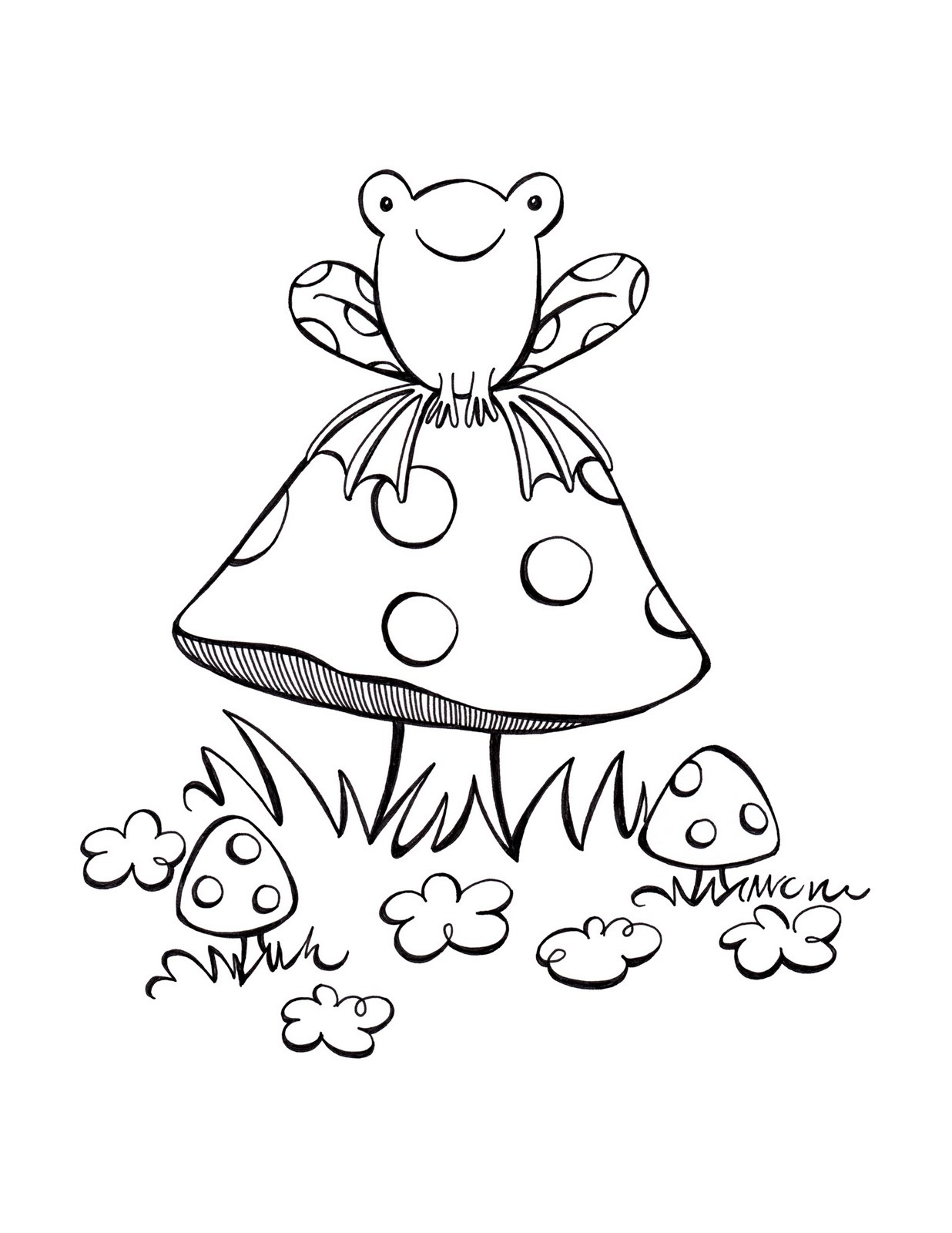 fungus coloring pages - photo#30